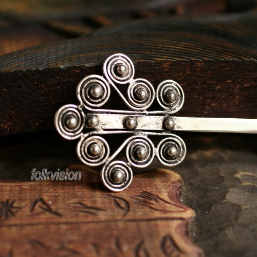 Tribal Ethnic Miao Handmade Hairpin JH093 - Click Image to Close