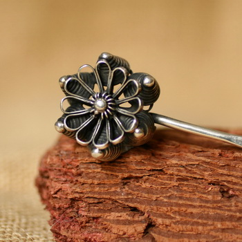 Tribal Ethnic Miao Handmade Hairpin JH096