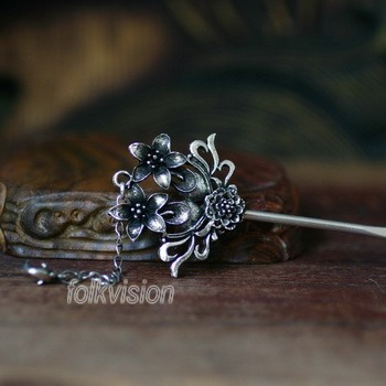 Tribal Ethnic Miao Handmade Hairpin JH160
