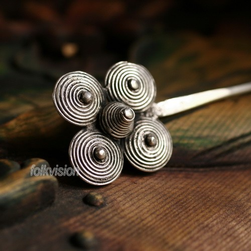 Tribal Ethnic Miao Handmade Hairpin JH165