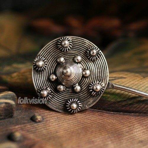 Tribal Ethnic Miao Handmade Hairpin JH169