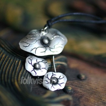 Tribal Miao Handmade Pendant Necklace MN040 - Click Image to Close