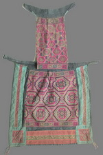 Old Chinese Dong Woven and Embroidered Baby Carrier BC8001