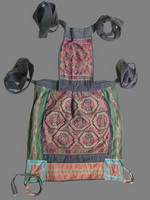 Old Chinese Dong Woven and Embroidered Baby Carrier BC8009