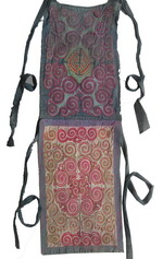 Old Chinese Miao Embroidered Baby Carrier BC8018