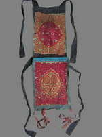 Old Chinese Miao Embroidered Baby Carrier BC8023