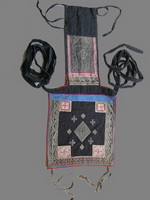 Old Chinese Dong Woven and Embroidered Baby Carrier BC8037