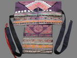 Old Chinese Miao Embroidered Baby Carrier BC8039