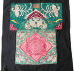 Old Chinese Miao Embroidered Baby Carrier BC8066