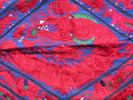 OLD CHINESE MIAO TEXTILE EMBROIDERED APRON TA8001