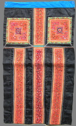 OLD CHINESE MIAO TEXTILE EMBROIDERED APRON TA8003