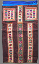 OLD CHINESE MIAO TEXTILE EMBROIDERED APRON TA8004