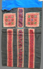 OLD CHINESE MIAO TEXTILE EMBROIDERED APRON TA8005