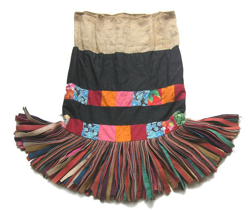 OLD TRIBAL YAO HANDMADE SKIRT S5041